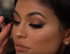 I really love this look Hrush Acheyman did on Kylie Jenner for her 18th birthday in 2015! It was very bronze, dark, and dramatic. The skin a...