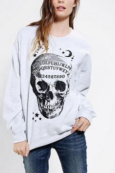 Ouija Skeleton Pullover Sweatshirt #urbanoutfitters