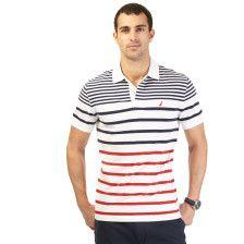 Slim Fit Striped Deck Polo Shirt