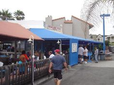 Harbor Fish Cafe in Carlsbad, CA. Great fish & chips, on a patio with an ocean view!