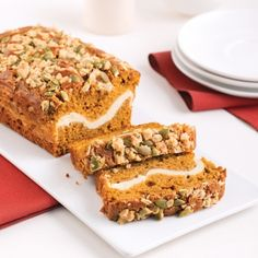 Pumpkin Bread with Cream Cheese Filling - 5 ingredients 15 minutes No Bake Desserts, Dessert Recipes, Muffin Bread, Cream Cheese Filling, Dessert Bread, Pumpkin Bread, Sweet Bread, Pumpkin Recipes, Vegetable Recipes