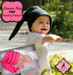 Gnome Hat PDF Sewing Pattern boys/girls nb-5t   Sewing Pattern   YouCanMakeThis.com