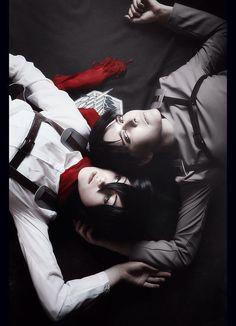 Eren with Mikasa - Kimi(kimi coser) Eren Yeager Cosplay Photo - WorldCosplay