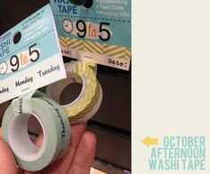 blogged by marcy penner, october afternoon wash tape