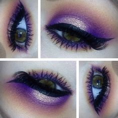 Gorgeous purple makeup ♡