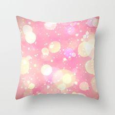Pink Sparkling Joy Throw Pillow
