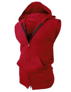 H2H Men's Lightweight Sleeveless Fashion Hoodies with Henley Neck-line $19.99 (save $20.00)
