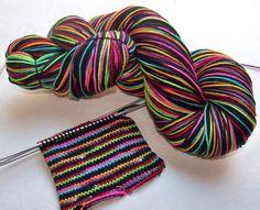 Handpainted Superwash Merino/Nylon 4ply Sock by SeeJayneKnitYarns, $23.95