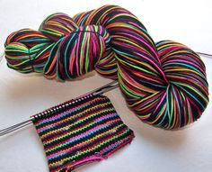 Handpainted Superwash Merino/Nylon 4-ply Sock Yarn -- STRIPING for Socks or Gloves -- Tickle Me Emo on Etsy, $27.49 AUD