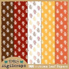 Free CU Autumn Leaf Papers