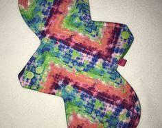 Cloth pads, reusable, eco friendly, tie dye