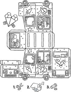 eten colouring pages - Pagina 6 van 15 - kiddicolour Projects For Kids, Diy For Kids, Crafts For Kids, Arts And Crafts, 3d Paper Crafts, Paper Toys, Colouring Pages, Coloring Books, Instruções Origami