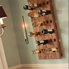 Eclectic Dining Room Design, Pictures, Remodel, Decor and Ideas - page 7 Riddling Rack, Wine Bottle Storage, Wine Racks, Wine Bottles, Diy Casa, Ideias Diy, Dining Room Design, Design Kitchen, Dining Area