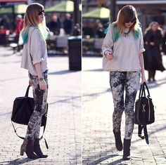 CAMOUFLAGE (by Jana Wind) http://lookbook.nu/look/4695003-Marc-By-Jacobs-Bag-Stefanel-Pullover-Camouflage