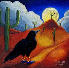 AZ Raven Painting  - AZ Raven Fine Art Print