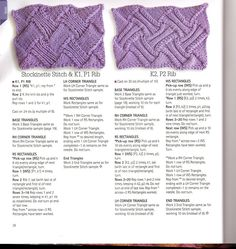 """Photo from album """"Entrelac"""" on Yandex. Knitting Stiches, Knitting Charts, Hand Knitting, Knitted Afghans, Tunisian Crochet, Knit Crochet, Stitch Patterns, Knitting Patterns, Knitting Projects"""