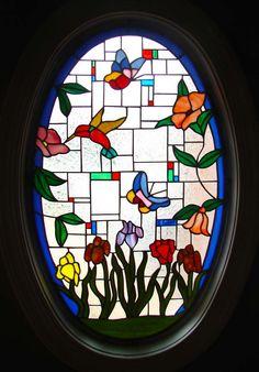 Humming Bird, Butterflies, and Flowers