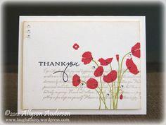Stamps:  Text It (Waltzingmouse Stamps); Botanical Silhouettes (Papertrey Ink)   Paper/Cardstock:  Rustic White (PTI)   Inks:  Classic Kraft, Pure Poppy, Simply Chartreuse, True Black (PTI); Tea Dye Distress Ink (Ranger)   Embellishments:  Rhinestones  Tools:  Linen/Canvas Impression Plate (PTI)