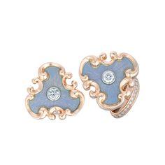 Fabergé Rococo Diamond Cufflinks #Fabergé #cufflinks