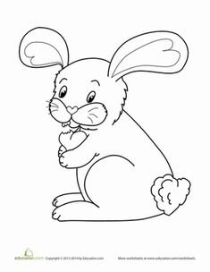 Valentines Day Bunny Coloring Page