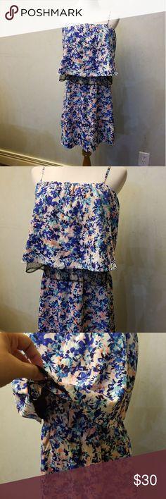 NWT Oliva+Oak floral dress Brand new with tags blue pink white floral dress Olive & Oak Dresses Midi