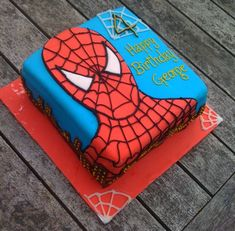 Spiderman Cake Ideas for Little Super Heroes - Novelty Birthday Cakes Spiderman Birthday Cake, Spiderman Theme, Superhero Cake, 4th Birthday, Birthday Ideas, Novelty Birthday Cakes, Monster Party, Cakes For Boys, Cake Designs