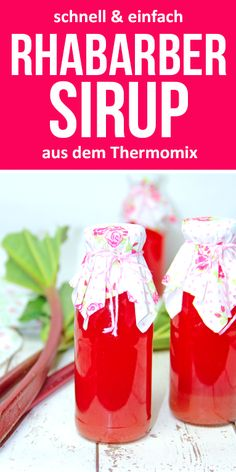 Rhabarber Sirup schnell & einfach selber machen im Thermomix You can easily make rhubarb syrup yours Healthy Eating Tips, Healthy Nutrition, Tea Recipes, Cocktail Recipes, Cocktails, Healthy Smoothies, Smoothie Recipes, Smoothie Detox, Rhubarb Syrup