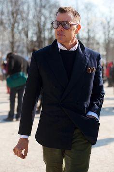 On the Street…..Mr. George Cortina (editor/stylist), Paris