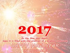 Advance Happy New Year 2017 images Wishes #HappyNewYear2017