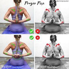 """5,115 Likes, 62 Comments - Yoga and Barre Instructor (@actionjacquelyn) on Instagram: """"✨PRAYER POSE ✨ Anjali Mudra (Salutation Seal) Prayer Pose behind the back stretches the…"""""""