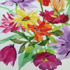 Art tissue wild flowers by Susan Pepe