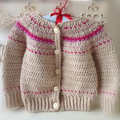 Fair Isle Style Crochet Cardigan on Raverly