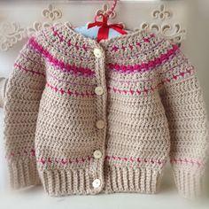 Fair Isle Style Crochet Cardigan