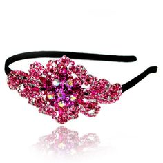 Prom Collection Crystal Romance Hairband Pink - 4EverBling