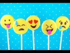 EMOJI Cookie Pops! How to make No Bake Emoticon Oreos!   My Cupcake Addiction - YouTube