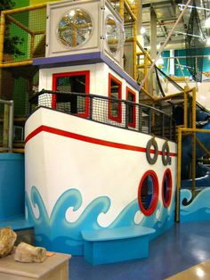 Put pirate boat by fenced in pond with magnetic fishing Children's Museum, Museum Exhibition, Interactive Projection, Hotels For Kids, Discovery Museum, Farm Games, Museum Displays, Photo Viewer, Indoor Playground