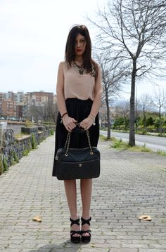 total look American Apparel  bag Chanel