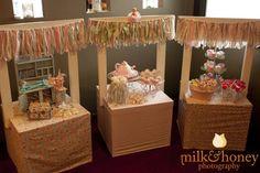 Dessert 'stands' instead of dessert table. {photography http://milkandhoney.com.au }