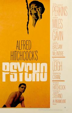 """""""Psycho"""" directed by Alfred Hitchcock / 2nd grossing film in 1960"""