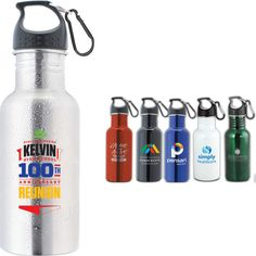 The wide mouth stainless steel water bottle with carabiner. Best value in a water bottle. Wide mouth for ice cubes. Product size 2 x 8 BPA free and Eco-friendly. Marketing Budget, Ice Cubes, Stainless Steel Water Bottle, Water Bottles, Health Care, Eco Friendly, Size 2, Drinks, Free
