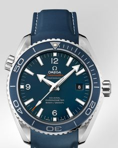 This blue is one of my favorite colors. Great, if the face is not giant. OMEGA Watches: Seamaster Planet Ocean Big Size - Titanium on rubber strap.