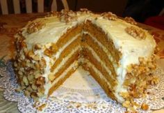 Ingredients : Four-Layer Pumpkin Cake with Orange-Cream Cheese Frosting 3 cups all purpose flour 2 tsp baking powder 1 tsp baking soda 1 tsp Chinese five-spice powder* tsp fine sea salt 1 cup sticks) unsalted butter, room temperature 2 cups (packed) Fluffy Cream Cheese Frosting, Cake With Cream Cheese, Pumpkin Recipes, Cake Recipes, Dessert Recipes, Keto Recipes, Cooking Recipes, How To Stack Cakes, Pumpkin Spice Cake