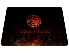 Fire and Blood Game of Thrones Mousepad //Price: $13.99 & FREE Shipping //     #FireAndBlood