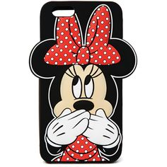 Forever 21 Minnie Mouse Case for iPhone 6 ($7.99) ❤ liked on Polyvore featuring accessories, tech accessories, phone cases, phones, cases, iphone and forever 21