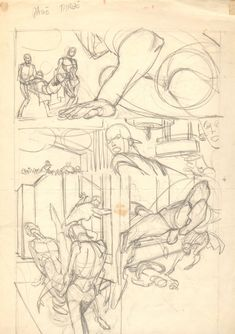 Comic Art For Sale from Anthony's Comicbook Art, Flash Interior Pencil Prelim p.3 by Comic Artist(s) Gil Kane