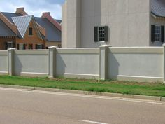 Are you looking for a more durable and longer lasting alternative to stucco? AFTEC provides its clients with precast concrete wall and fence systems. Fence Wall Design, Exterior Wall Design, Stone Wall Design, House Gate Design, Stucco Exterior, Stucco Walls, French Style Homes, Spanish Style Homes, Compound Wall Design