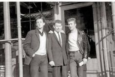 1961. John Lennon and Paul McCartney with Cavern Club DJ Bob Wooler. In February…