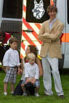 Prince Louis and Princess Tessy with sons Gabriel and Noah de Nassau