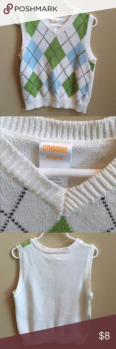 Gymboree Boys Vest Size 3/4 Gymboree Boys Vest Size 3/4. Gently used. From a non-smoking and pet free home. Bundle to save on shipping! Will ship same day if ordered by Wednesday morning and can get there by Easter! Gymboree Shirts & Tops Sweaters