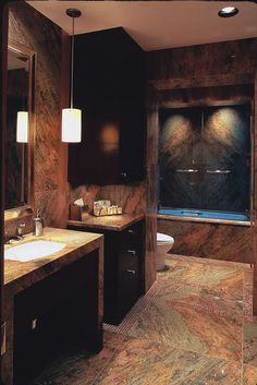 what I am afraid the bathroom will look like if we use dark tiles
